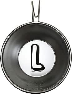 アルファベット シェラカップ イニシャル ステンレス カップ 調理器具 計量メモリ付き 計量カップ 直火可能 キャンプ用品 プレゼント