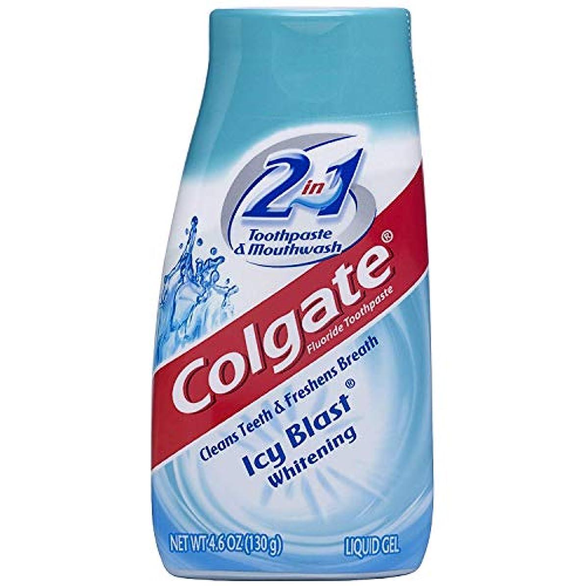 ベルトフィラデルフィアゆるくColgate 2N1アイシーブラストTpのサイズ4.6Zアイシーブラストホワイトニングリキッドジェル2-IN-1歯磨き粉およびマウスウォッシュ 4パック