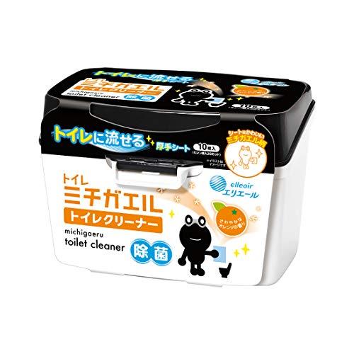RoomClip商品情報 - エリエール ミチガエル トイレクリーナー 本体 10枚 オレンジの香り