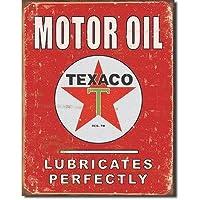 ブリキ看板 TEXACO MOTOR OIL (1444) テキサコ モーター オイル サインプレート サインボード アメリカ雑貨 アメリカン雑貨