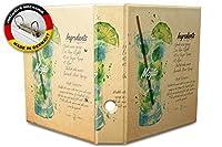 バインダー 2 Ring Binder Lever Arch Folder A4 printed Mojito cocktail recipe