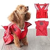 犬服 令和 新年 初詣 節分 お散歩 着物 袴 犬の服 裃 ドッグウエア (はかま) (レッド)