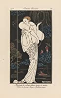 George Barbier ジクレープリント キャンバス 印刷 複製画 絵画 ポスター (White velvet coat embroidered with pearls) ビッグサイズ 99 x 156.1cm #SDFB