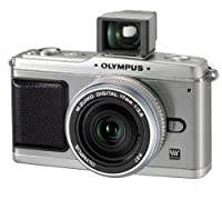 Olympus PEN E-P1 12.3 MP Micro Four Thirds Interchangeable Lens Digital Camera with 17mm f/2.8 Lens and Viewfinder (Silver) by Olympus