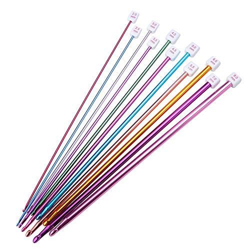 かぎ針11本 編み棒 レース針 DIY 手芸 手編み 針 毛糸編み針 セーター マフラー 帽子 ニット プレゼント ギフト 長27cm 編み針セット