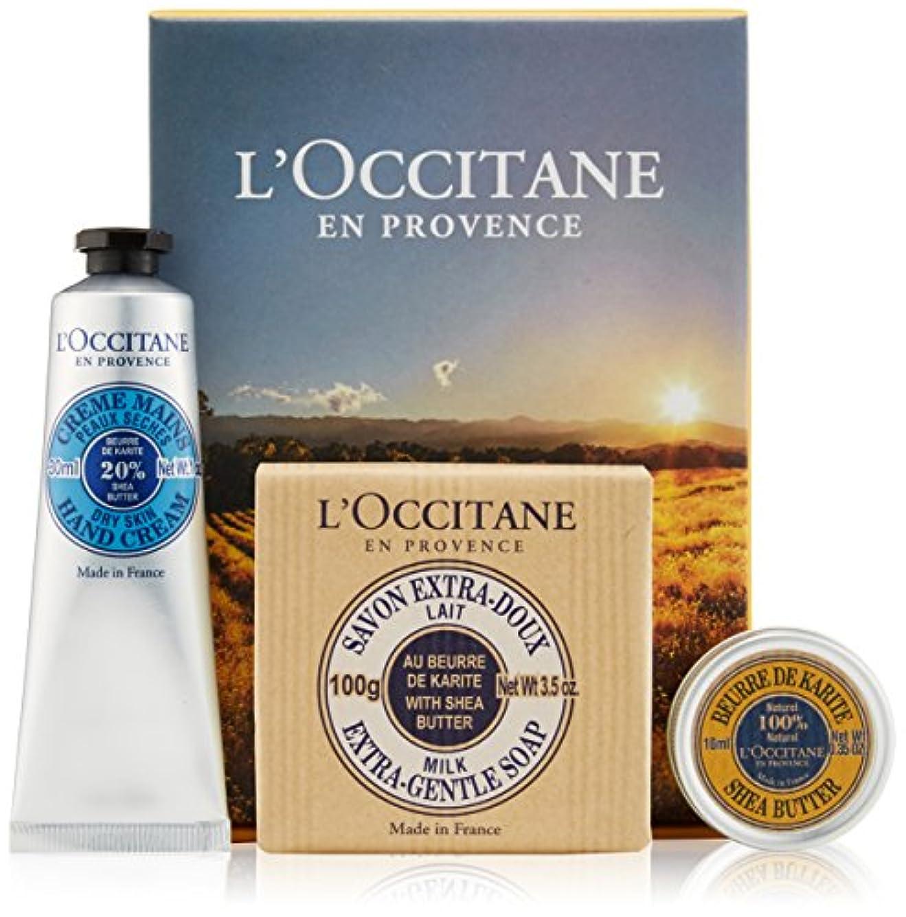 偶然の肉振り返るロクシタン(L'OCCITANE) シアバター&ハンドケアセット