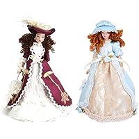 Fenteer 磁器人形 1/12スケールドール ドールハウス飾り コレクション 中世紀 ビクトリア女性 帽子 スタンド