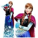 アナと雪の女王 アナ ドレス コスチューム レディース 刺繍豪華版 (XL)