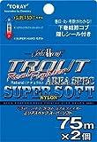 東レ(TORAY) ライン ソラローム トラウトリアルファイターエリアスペックスーパーソフト 75m 2個入り 2lb/0.3号 ナチュラル