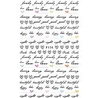 Poonikuuネイル飾り アルファベットシリーズ ネイルデザイン DIYネイルデカール ネイルシールセット ネイルアートアクセサリー 女の子たち おしゃれファション 10枚セット