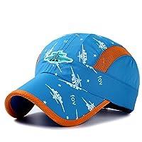 (コネクタイル) Connectyle 夏 メッシュキャップ キッズ 軽量 速乾性 帽子 子供 男の子 女の子 UV プロテクション キャップ 調整可能 スカイブルー