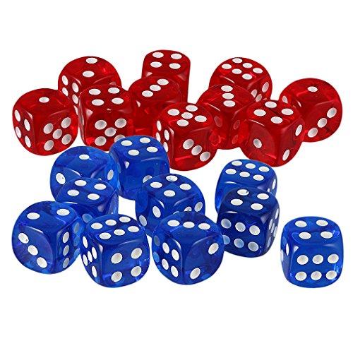 Lovoski 約20個 アクリル 6面 サイコロ D6ダイス D&D TRPGパーティー ボードゲーム カジノ用品