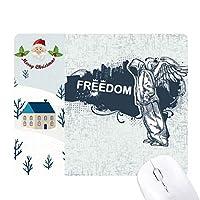 ヒップホップの自由宗教の天使のパターン サンタクロース家屋ゴムのマウスパッド
