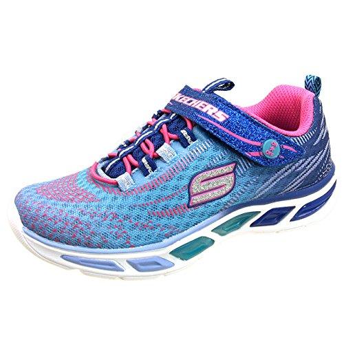 (スケッチャーズ)SKECHERS 10667L 光る靴 スニーカー 女の子 22.0cm BLHP