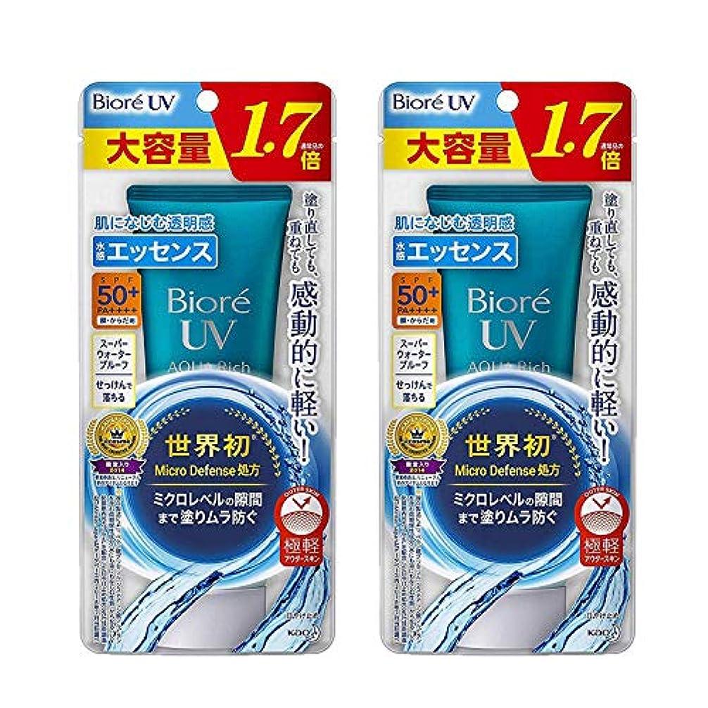 サンダル楽な迷信【2個セット】 ビオレUV アクアリッチ ウォータリーエッセンス 85g (大容量 通常品の1.7倍) 日焼け止め SPF50+/PA++++