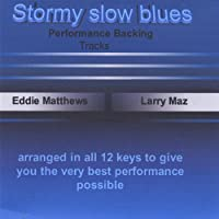 Stormy Slow Blues Backing Track