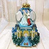 シンデレラ Cinderella 舞踏会 城 スノーグローブ スノードーム オルゴール ライトアップ フィギュアディズニー TDL 置物