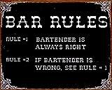 Bar Rules ブリキ看板 38 x 30センチメートル