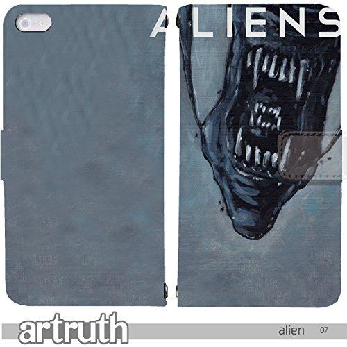 エイリアン alien 手帳型 iPhone8Plus (i...