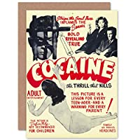 Cocaine Thrill that Kills Drugs Greetings Card