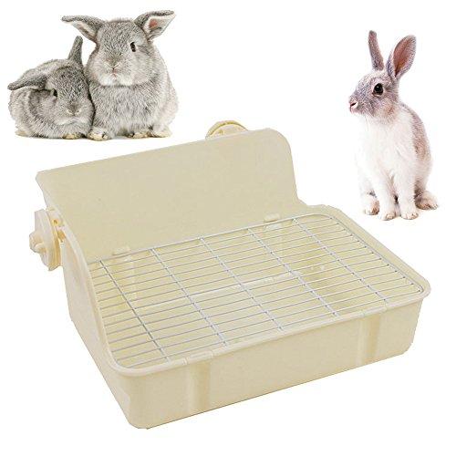 Gifty ウサギの固定式コーナートイレ ラビット 小動物 コーナー トイレ 四角 飼育ケージ内装 スノコ付き 除...
