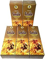 スマイル香スティック 5BOX(30箱)/ASOKA SMILE/ インド香 / 送料無料 [並行輸入品]