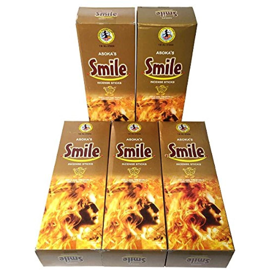 タービン胚芽要塞スマイル香スティック 5BOX(30箱)/ASOKA SMILE/ インド香 / 送料無料 [並行輸入品]
