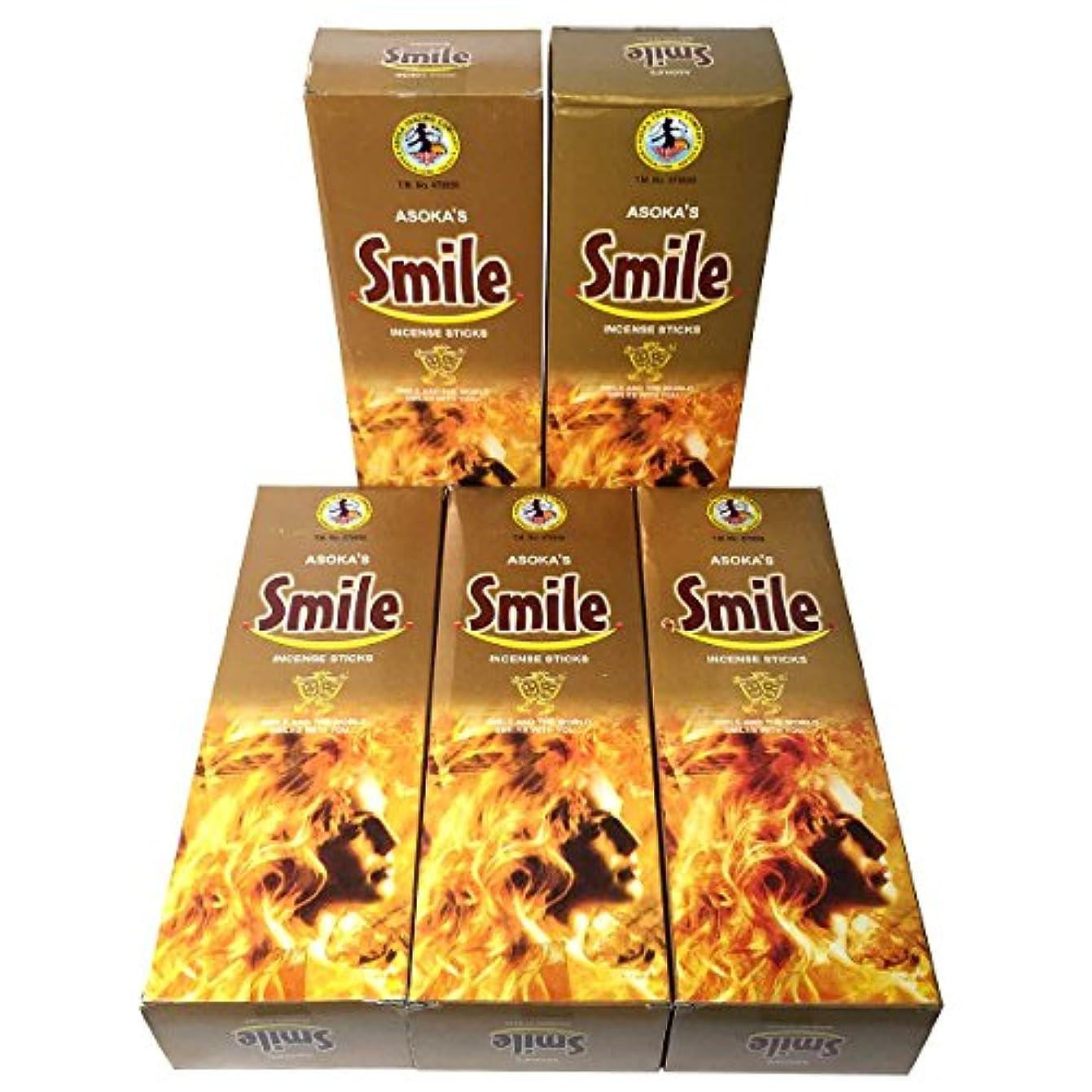 九伝統的札入れスマイル香スティック 5BOX(30箱)/ASOKA SMILE/ インド香 / 送料無料 [並行輸入品]