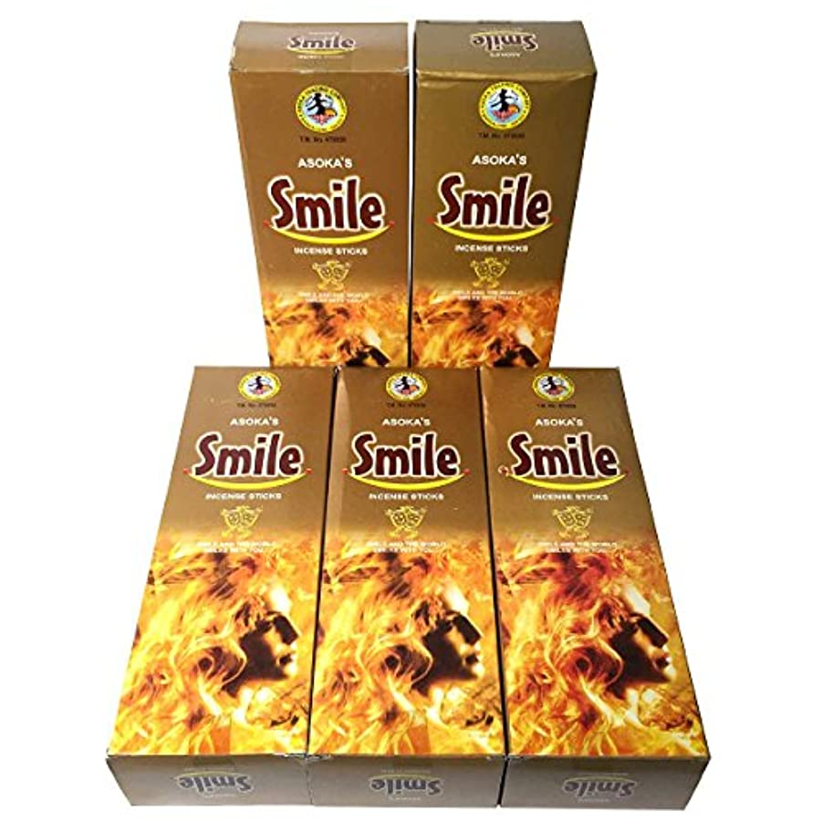 大臣革命ワイプスマイル香スティック 5BOX(30箱)/ASOKA SMILE/ インド香 / 送料無料 [並行輸入品]