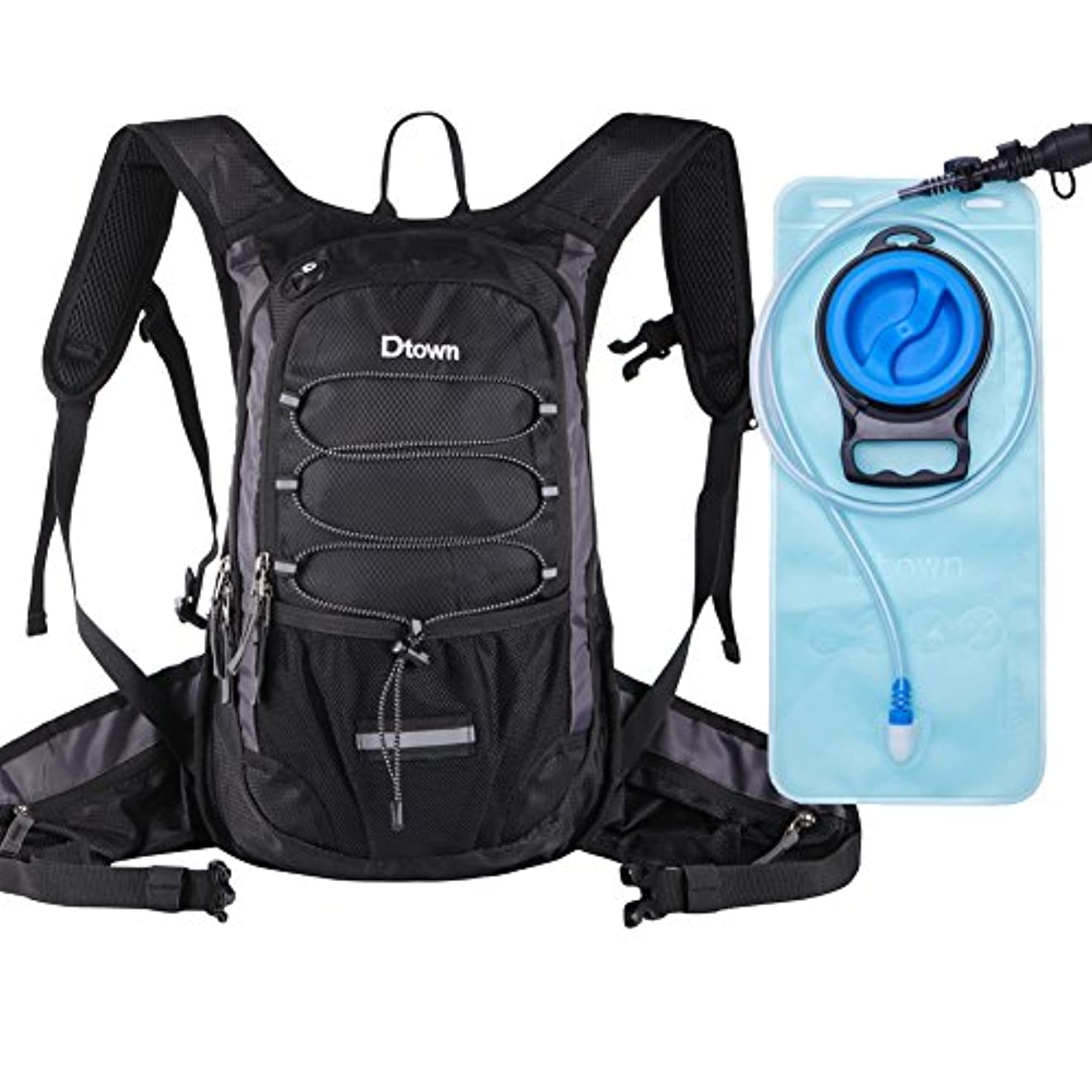 なぜ要旨ネックレスハイドレーションバッグ 防水 軽量 ランニングバッグ リュック 自転車(2L給水袋付き) メンズ レディース サイクリングバックパック ハイキングリュック