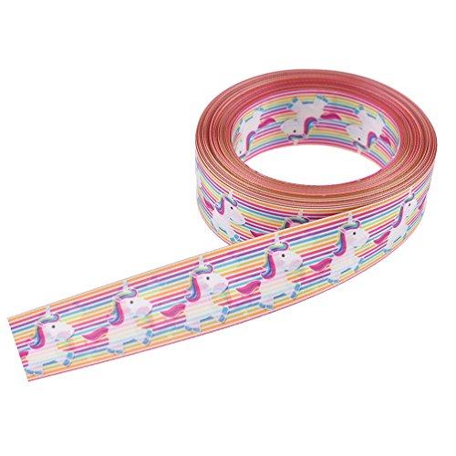 Viviseason(ビビシーズン) リボン ユニコーン サテン 花束 ギフト ラッピング 包装 ハンドメイド かわいい DIY手芸 雑貨 工芸品 飾り10ヤード 2.5cm幅