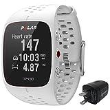 Polar m430Advanced Running GPS watch with wrist-basedハートレートモニター、wearable4u壁充電アダプタバンドル ホワイト