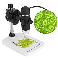 デジタルUSB顕微鏡 Fosaポータブル充電式LCD顕微鏡2592 x 1944pのHDカメラ、倍率20倍、内蔵8調整可能なLED光源&5MP写真/ビデオキャプチャ