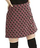 DELSOL GOLF 千鳥柄ラップ風スカート ピンク デルソル ゴルフウェア レディース Mサイズ Lサイズ 冬スカート (M)