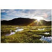 富山県 富山市薬師岳から昇る朝日と池塘