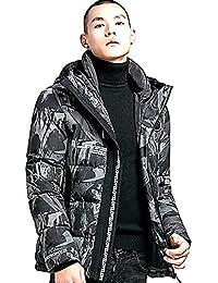 ダウンコート メンズ 中綿 アウター 迷彩柄 冬コートフード付き ボリュームネック 保温ジャケット 暖かい ダウンジャケット