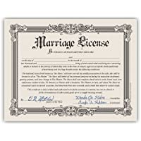 Loftus International Funny Marriage License Bachelorette -Bachelor Party Gag Gift Certificate [並行輸入品]
