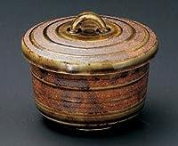 鉄釉 織部 駒筋 9.2㎝ 蒸し碗4個組 茶碗蒸しや蒸し物料理に
