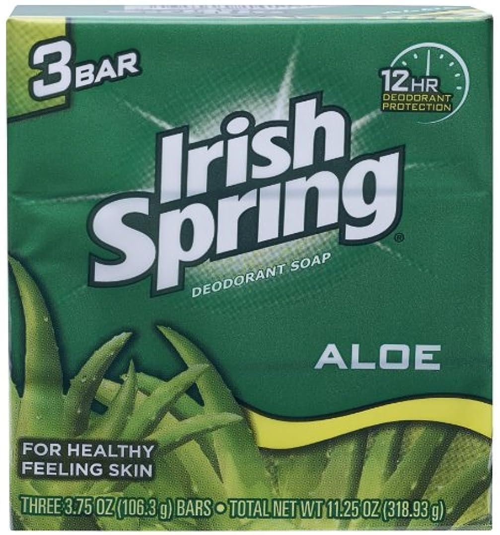 緑歯弓Irish Spring (IRIAL) ユニセックスのためにアロエデオドラントソープすることにより、3カウント