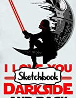 Sketchbook: Star Wars Gifts Series Movies Soft Glossy Duo Blank Sheets Sketchbook The Last Jedi with Blank Lined Paper for Taking Notes Writing Workbook for Teens and Children Students School Kids Inexpensive Gift For Boys and Girls
