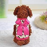 ペットドレス ベスト 子犬の服 ヒョウ柄 お出かけ 快適 - ピンク, 10#