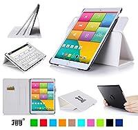 iPad Mini3 ケース iPad Mini2 ケース iPad Mini ケース,FYY 360度回転可能 解体可能タイプ PUレザー カード収納/ペンホルダ/スタンド機能付き マグネット式 iPad Mini 1/2/3兼用 ホワイト