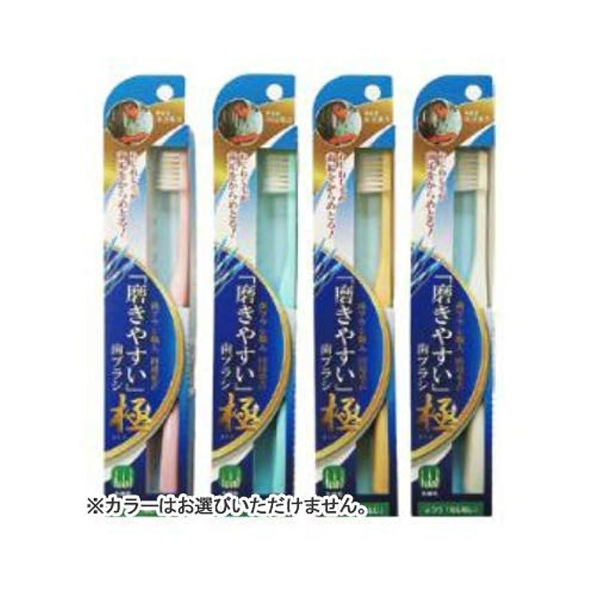 スーダン軽減するフォークLT-45磨きやすい歯ブラシ極 ねじねじ × 10個セット