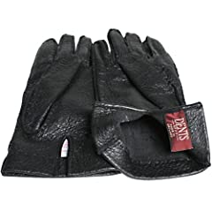 Melton Peccary Gloves Unlined 15-1041: Black