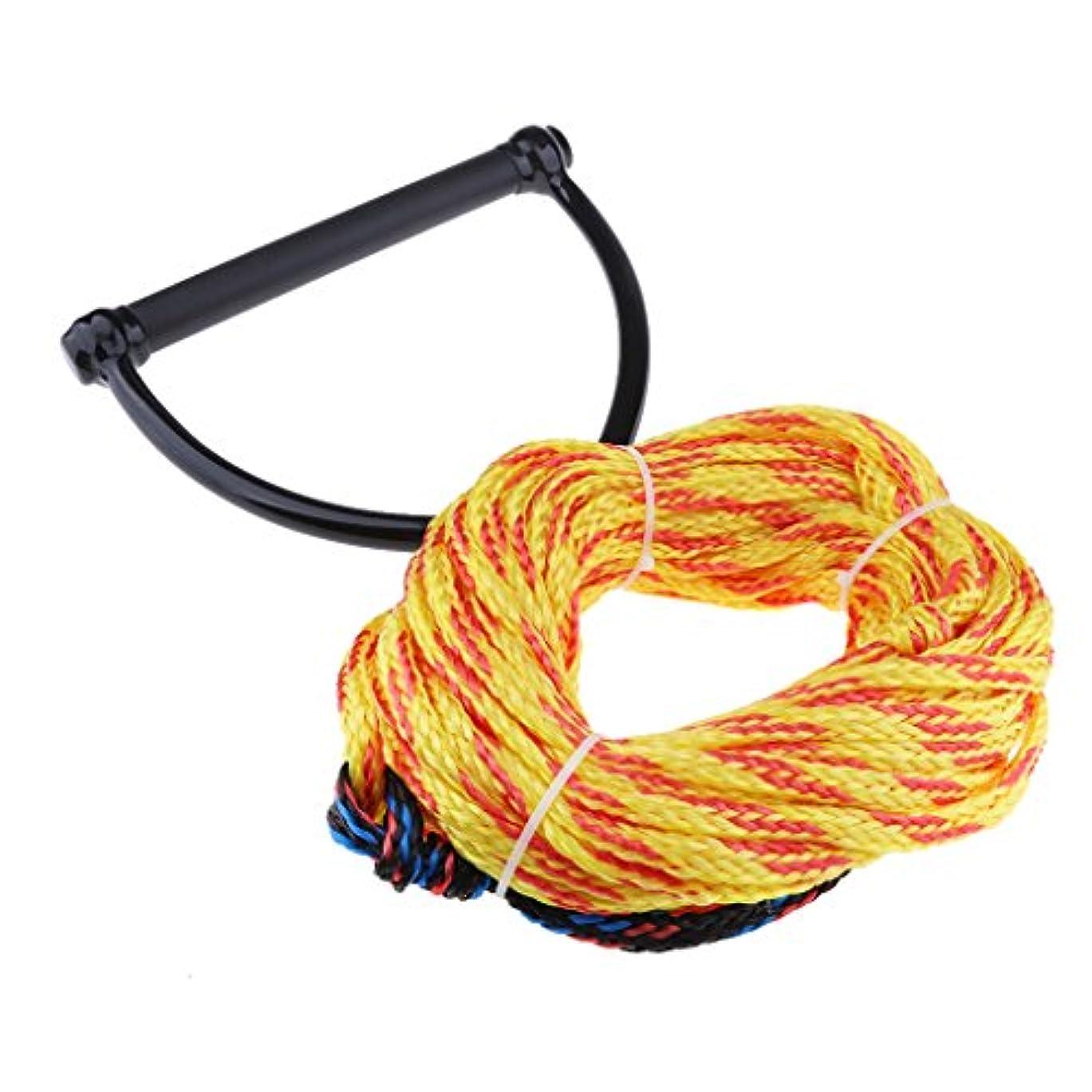 若者生き残り残るD DOLITY 牽引ロープ ウォータースポーツ ウォータースキー ロープ ハンドル付き ランダムカラー
