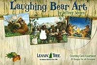 Leanin 'ツリーFunnyグリーティングカード–Laughing Bear Art [ ast90760]–20グリーティングカードwithフルカラーInteriors