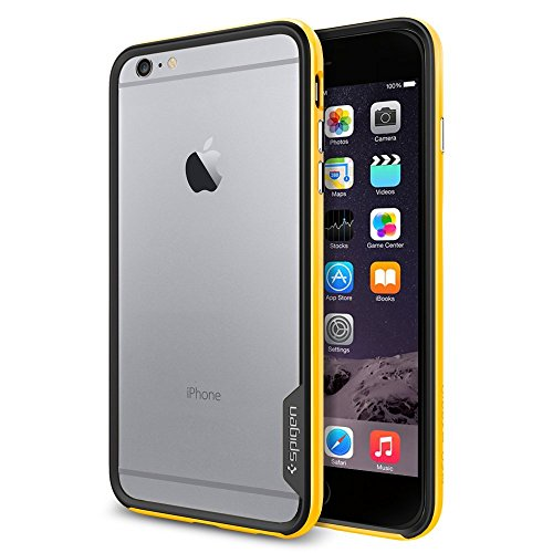 iPhone 6 Plus ケース, Spigen® [ スリム バンパー ] ネオ・ハイブリッド EX Apple iPhone (5.5) アイフォン 6 プラス カバー (国内正規品) (レベントン・イエロー 【SGP11260】)
