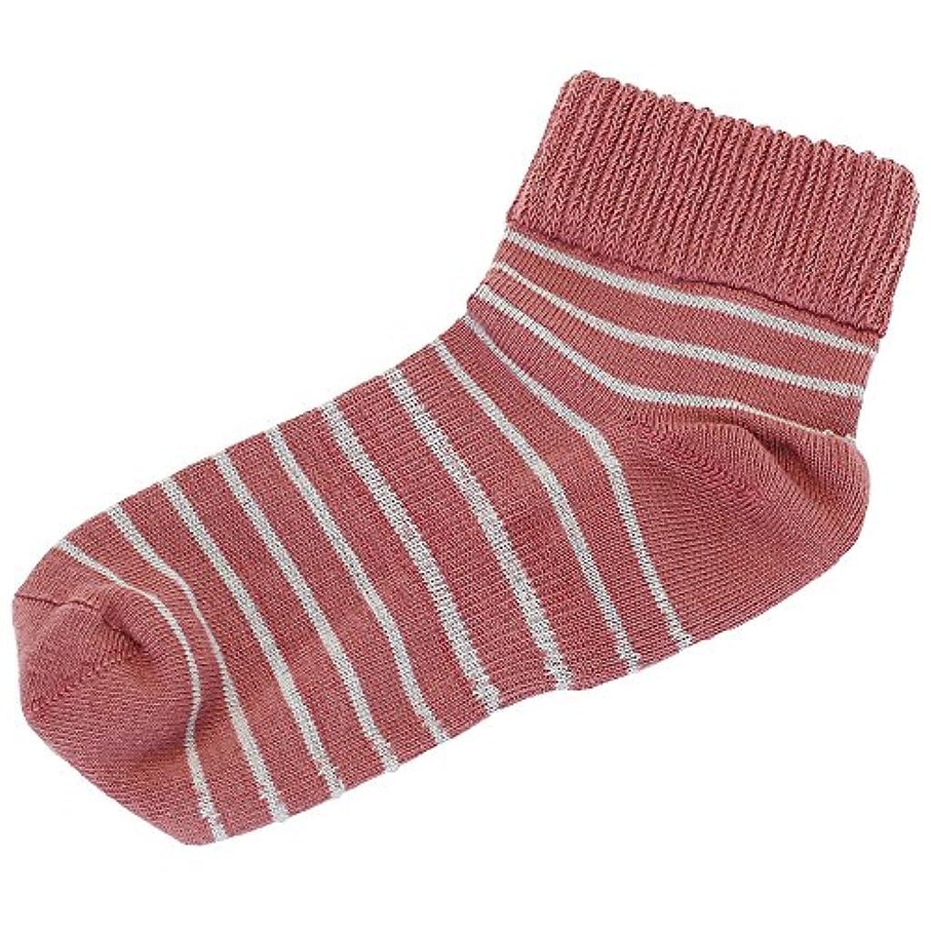 バスルーム決済特に歩くぬか袋 米ぬかシリコン足首ゆったりボーダー 23-25cm ピンク
