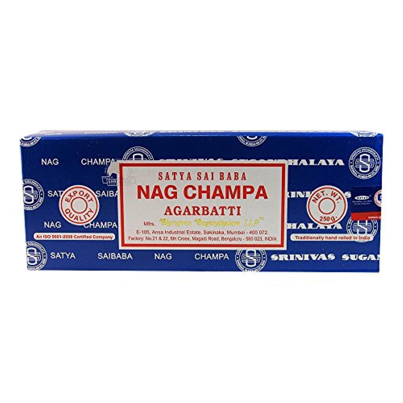 観客ちらつき出演者海外直送品Nag Champa Incense, 250 GRAMS by Sai Baba