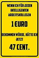 Wenn ich fuer jeden intelligenten Arbeitskollegen 1€uro bekommen wuerde, haette ich jetzt 47 Cent.: Terminplaner 2020 mit lustigem Spruch  - Geschenk fuer Buero, Arbeitskollegen, Kollegen und Mitarbeiter - Terminkalender, Taschenkalender, Wochenplaner, Jahresp